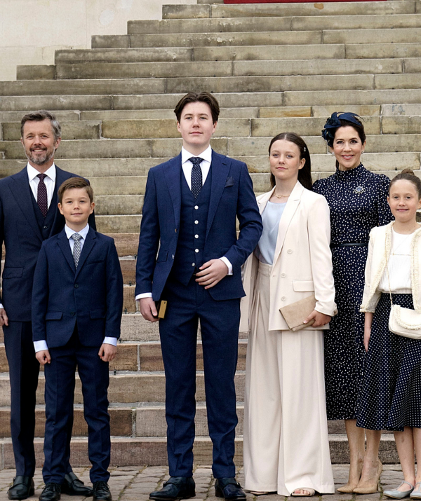 Mary, together with Frederik, 53, and their children Prince Christian, 15, Princess Isabella, 14, and 10-year-old twins Princess Josephine and Prince Vincent.