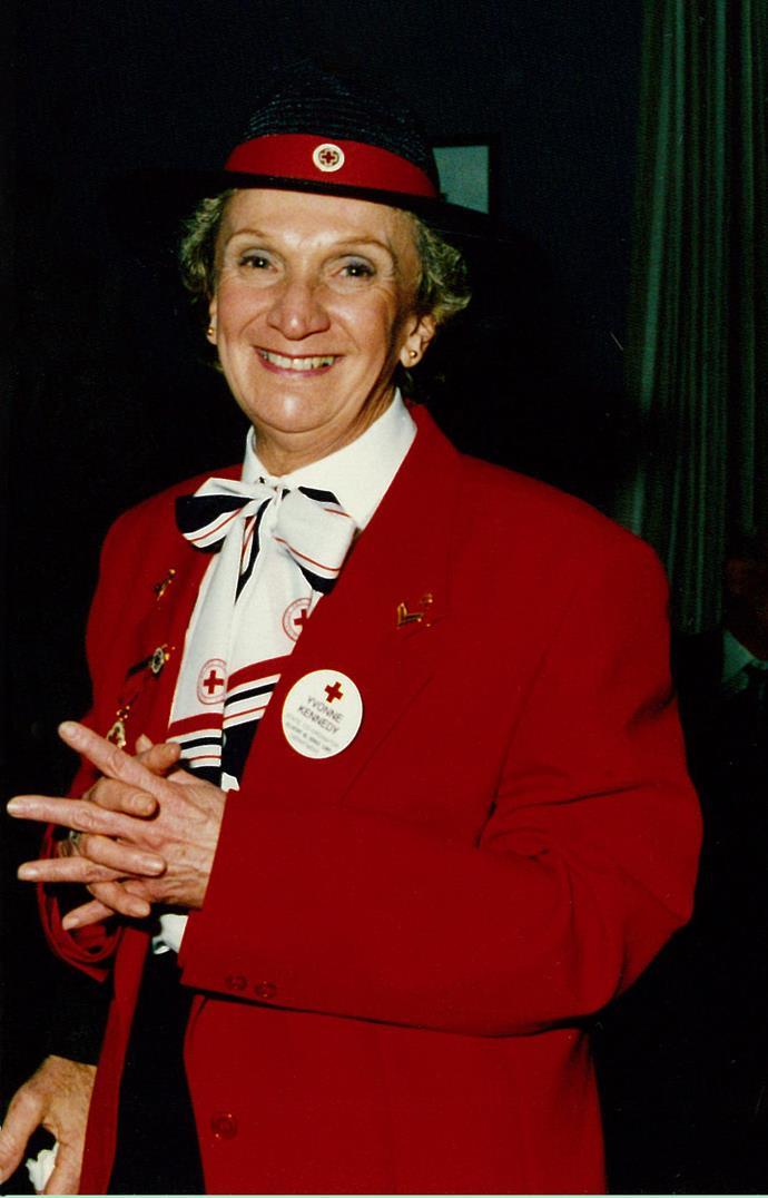 Yvonne in uniform.