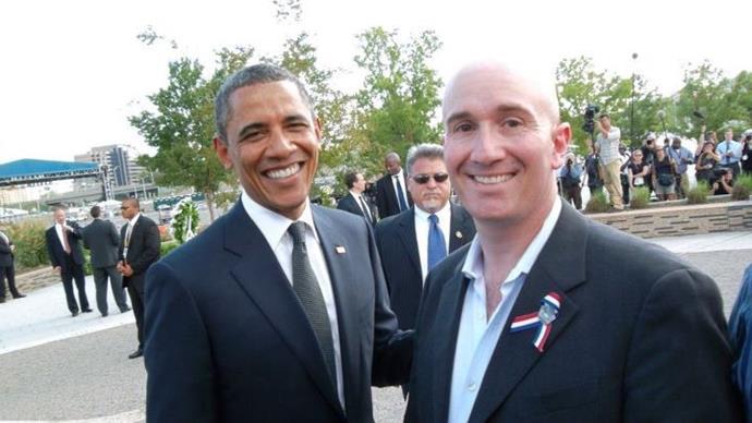 Simon met President Obama at one of the 9/11 anniversaries.