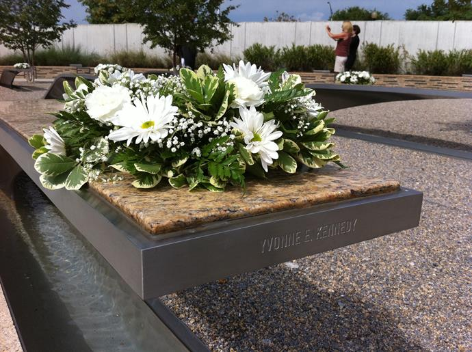 Yvonne is remembered at the Pentagon Memorial park.