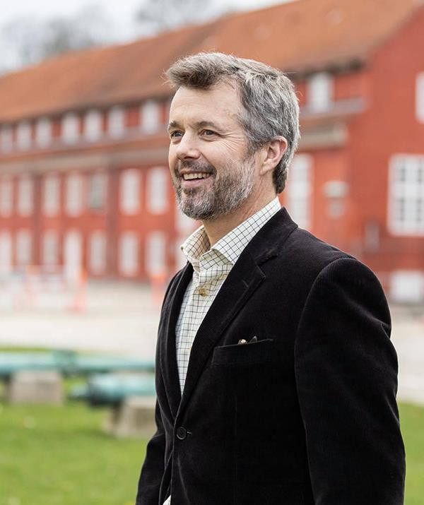 These days Crown Prince Frederik is sporting salt-and-pepper hair, but there's no denying it suits him.