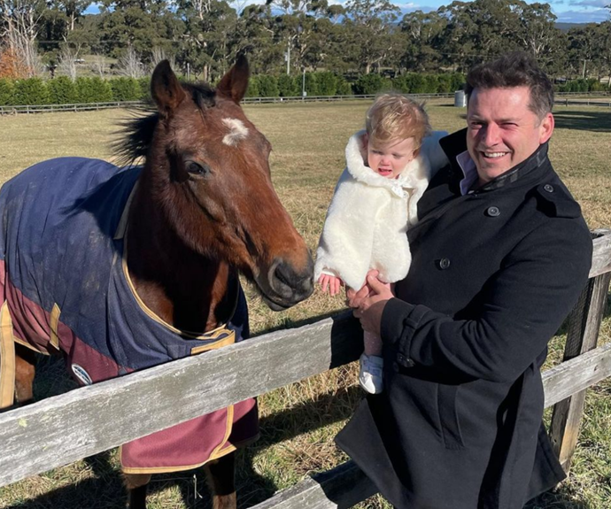 """Jasmine Stefanovic shared photos of her husband, Karl Stefanovic, with their daughter, Harper May, and his children from marriage to Cassandra Thorburn, Ava, Jackson and River. <br><br> """"Happy Fathers Day Karlitos,"""" she wrote with a loveheart emoji. """"Thank you for making us laugh everyday! We love you."""""""