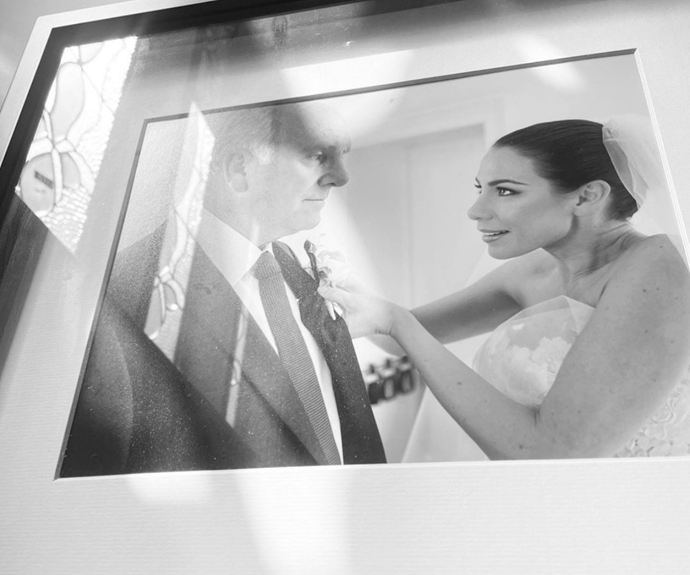 """In honour of her lovely dad, Kate Ritchie shared a photo from her wedding day. <br><br> """"Sharing one of my most precious images of me with my Dad..  I love you Dad,"""" she wrote.  <br><br> """"Being near you makes so many things feel okay. I think it's about feeling safe... Which is why it's tough not being able to see you today. And all the other days. Happy Father's Day."""""""