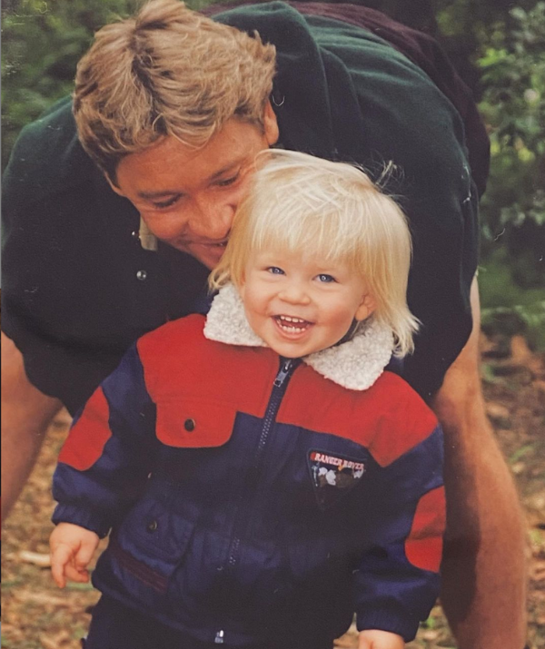 Bindi's brother, Robert Irwin, kept things simple for his Father's Day tribute. He shared a beautiful throwback photo with his late dad, with just a yellow love heart in the caption.