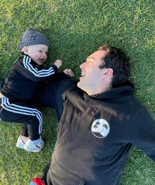 """""""Happy Father's Day to Oscar and Henry's fun, devoted Dad @peter_stefanovic. Our boys are so lucky. And to my Dad, who thankfully got to hold his lookalike Grandson before borders shut again. Love to all the loving Dads. ❤️,"""" wrote Sylvia to celebrate her husband on Father's Day."""