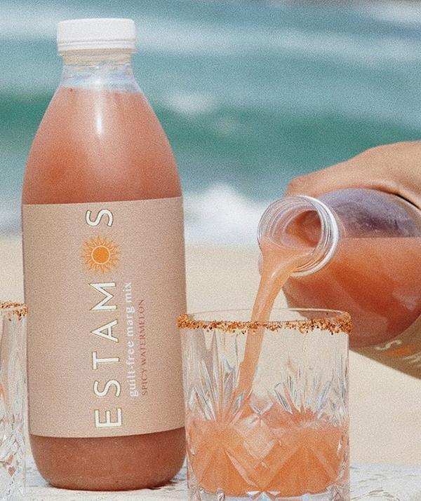"""**ESTAMOS Margarita Mix - [shop it here](https://drinkestamos.com/ target=""""_blank"""" rel=""""nofollow"""")** <br><br> For cocktail lovers locked down in Sydney, ESTAMOS is a fun way to jazz up your DIY margaritas. The unique mixers come in two flavours perfect for the spring (or any season really) with a choice between Spicy Watermelon and Cucumber Cooler. <br><br> You'll have to provid the tequila, but that just means you can choose the brand you love best to mix with these exotic flavours. Oh, and a full bottle that makes 12 margaritas is only $42 - bargain! Shop the mixers [online](https://drinkestamos.com/ target=""""_blank"""" rel=""""nofollow"""")."""