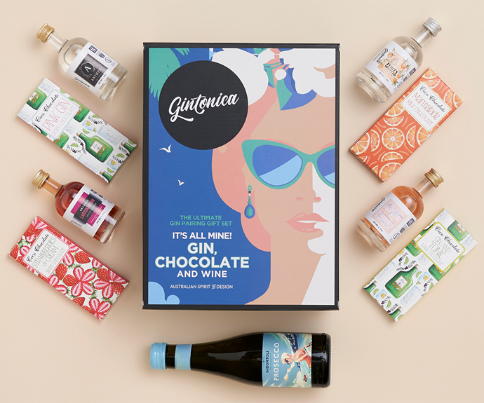 """**LVLY Gintastic Tasting Set - [shop it here](https://fave.co/3zLkMsV target=""""_blank"""" rel=""""nofollow"""")** <br><br> For the ultimate at-home happy hour in a box, look no further than the Gintonica Gintastic Tasting Set available through LVLY. It has literally everything you need for a lockdown cocktail sesh: Four 50ml Aussie Craft Gins, a 200ml Piccolo of DeBortoli Prosecco, Four Chocolate Bars and to top it all off, some Cocktail Recipes, Tasting Notes & Serving Suggestions. <br><br> It's the perfect way to spice up a Friday drinks at home, so [shop the set on the LVLY website](https://fave.co/3zLkMsV target=""""_blank"""" rel=""""nofollow"""")."""