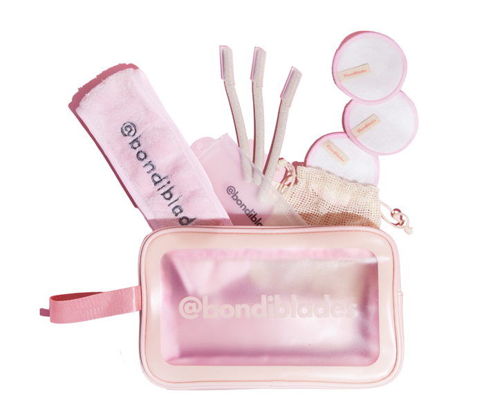 """[**Bondi Blades Dermaplaning Gift Set** for $54.95](https://bondi-blades.com/products/dermaplaning-gift-set target=""""_blank"""" rel=""""nofollow"""") has everything you'll need to get started."""