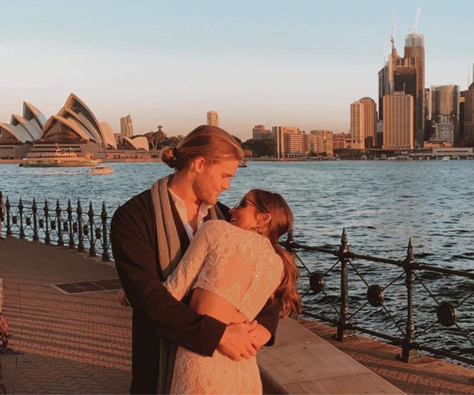 Jett and Lily went public with their relationship with a loved-up Insta photo.