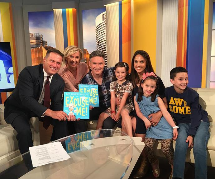 Dave has brought his wife and kids along for a few TV appearances over the last decade, including this one on the *Today* show.