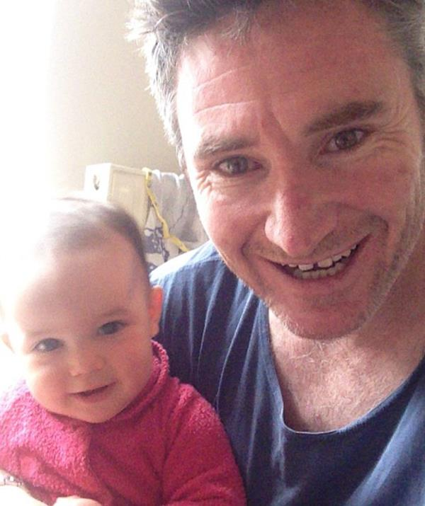 Little Tess came along in 2013 and clearly won her dad's heart!