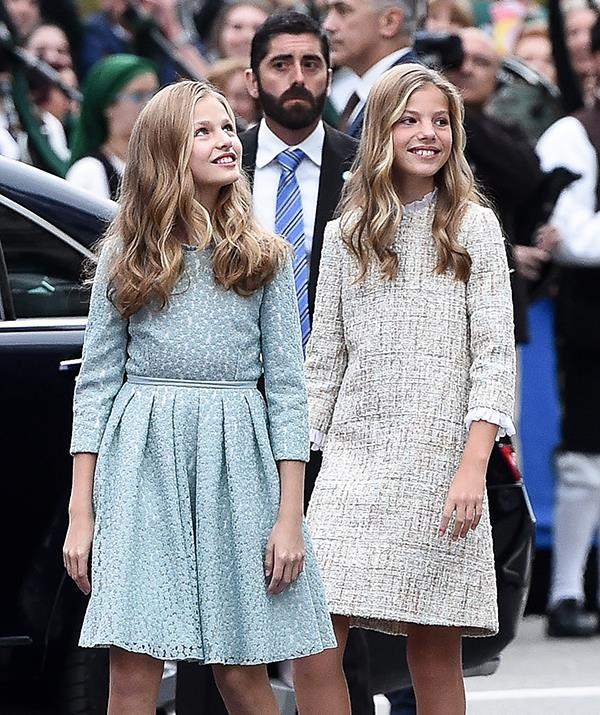 **Princesses Leonor and Sofia of Spain** <br><br> Leonor, 15, and Sofia, 14, are the duaghters of King Felipe VI and Queen Letizia of Spain, with Leonor set to on day take over her father's role as monarch. She recently jetted to the UK to continue her studies there for two years while Sofia remains in Spain.