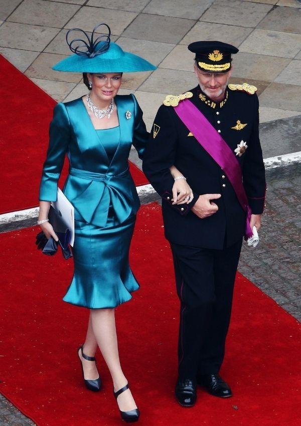 **Prince Philippe and Princess Mathilde of Belgium attending Prince William and Kate Middleton's wedding** <br><br> The royal couple were two out of the 1900 guests invited to celebrate the iconic wedding.