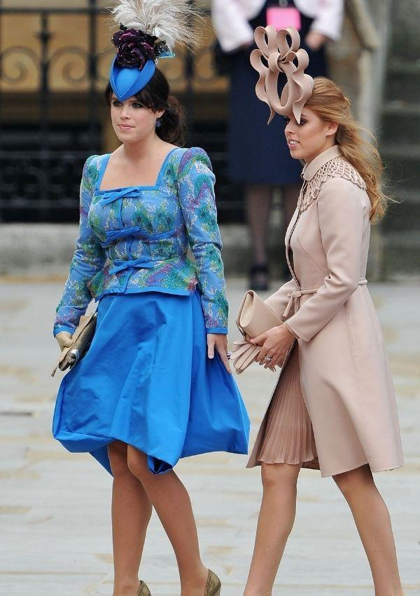 **Princess Eugenie and Princess Beatrice attend Prince William and Kate Middleton's wedding.**  <br><br> Who can forget the eclectic hats Princess Eugenie and Princess Beatrice wore to the wedding of the century? Their unique looks inspired hundreds of articles and chatter as they divided royal experts.