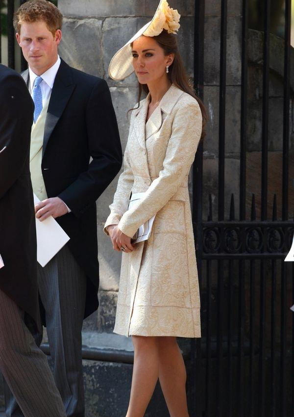 **Kate Middleton and Prince Harry attending Zara Tindall and Mike Tindall's wedding** <br><br> Prince Harry and Kate were photographed leaving the ceremony in their Sunday best.