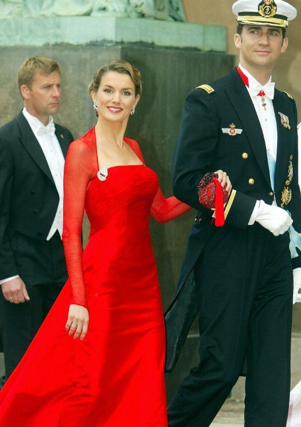 **Queen Letizia and King Felipe of Spain attending Prince Frederik and Princess Mary of Denmark's wedding**  <br><br> Spain's royals were only engaged when they attended Denmark's most iconic wedding.