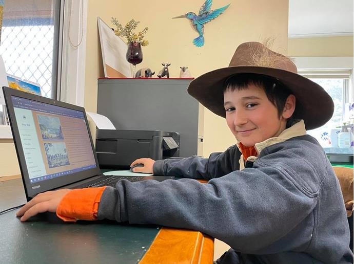 Year 5 student Stephen has a best friend in Queensland, thanks to School of the Air