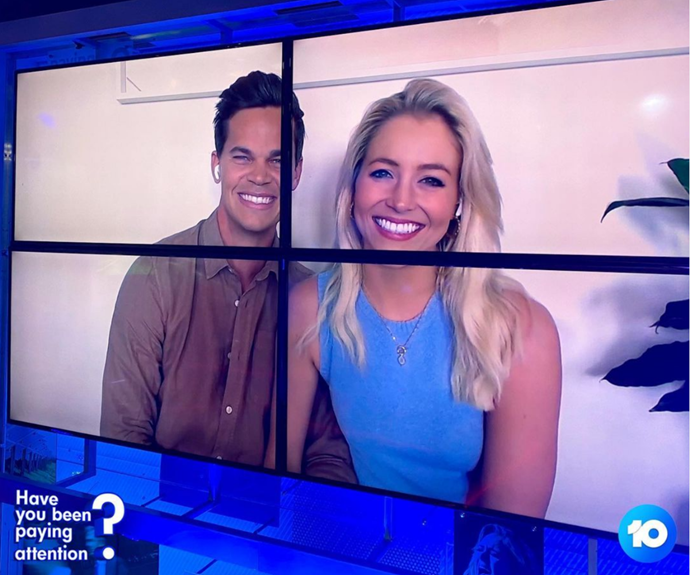 """With a """"rock solid"""" relationship to see them through the jokes, the pair even dared to go on *Have You Been Paying Attention?* - the hilarious game show that's known for lightly roasting guest quizmasters.  <br><br> Taking it in their stride, Holly and Jimmy appeared to enjoy the banter with Sam Pang and Tom Gleisner. Check out the video below! <br><br>"""