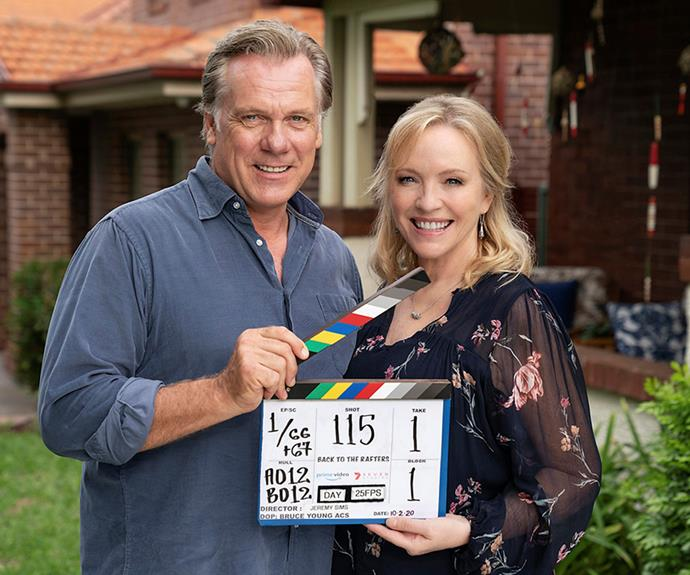 Rebecca Gibney and Erik Thomson are returning home once again in the Amazon Prime reboot, *Back To The Rafters*.