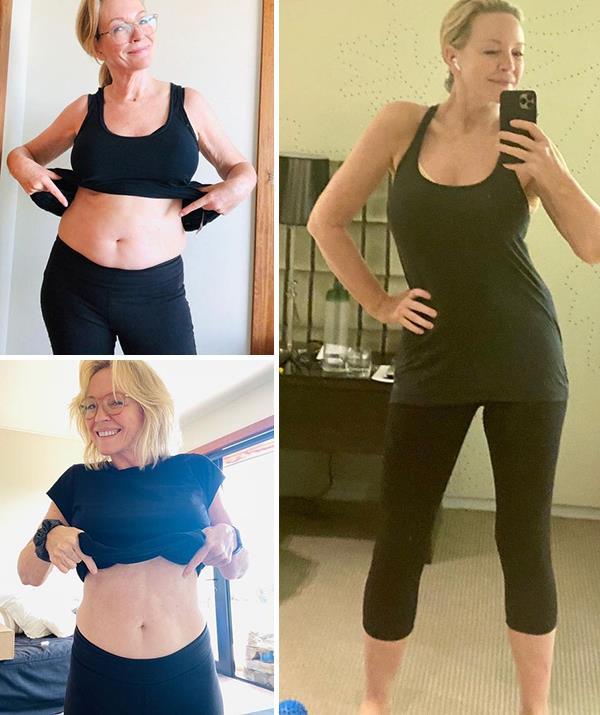 Rebecca showed off her transformation on Instagram.