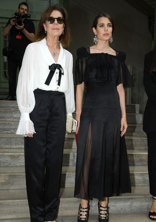 """Attending Karl Lagerfeld Homage at Grand Palais with her mother [Caroline of Hanover](https://www.nowtolove.com.au/fashion/fashion-trends/princess-caroline-young-60426