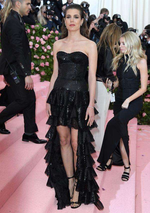 You wouldn't want to come between Charlotte and Saint Laurent. She also wore a mohawk dress by the brand to the Met Gala's *Camp: Notes on Fashion* in 2019.
