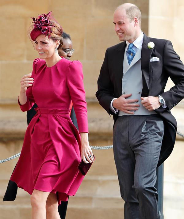 The Duke and Duchess of Cambridge attended the nuptials (seen here at a 2018 wedding).