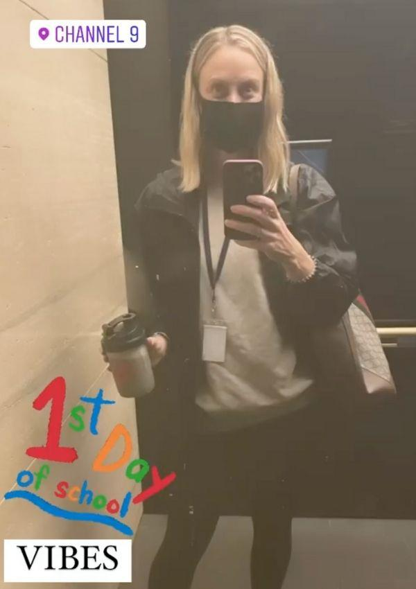 Sylvia snapped a mirror selfie to commemorate her return.