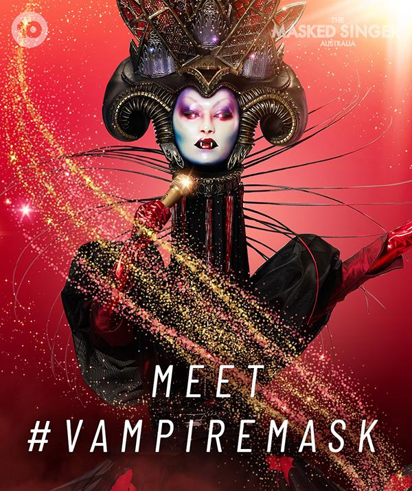 """**[Vampire](https://www.nowtolove.com.au/reality-tv/the-masked-singer/who-is-vampire-masked-singer-69174 target=""""_blank"""")** <br> **Episode one:** """"I am Vampire and I am eternal. I do not fear the daylight, I embraced it and it embraced me. It fed me when I most needed it. I am the child of Vampires. Who I am runs through my blood, it always has. <br><br> """"But vampires age slowly. As a Vampire, I have unexpected power. I don't wish to be unkind but do not underestimate me. Werewolves fear gold. Vampires do not. We revel in it. The heavier the better. I am Vampire and I am forever!"""" <br><br> **Episode three:** """"I am Vampire, a creature others should fear. I am a modern Vampire. The old church holds no fear for me. But that does not make me a hero. Unlike most vampires, I glimpsed my future in the Daylight. I knew there would be difficulties but I should fear nothing. Vampires do not concern ourselves with the stupid things. <br><br> """"The nations of the earth have cheered me on. Tears have flowed too. I have not slept since my teenage years. My life is like a waking dream."""" <br><br> **Episode five:** """"I am Vampire. Tremble before me! Am I a creature of Transylvania? Close. But I have walked most of the earth. Like a grand duchess, I rule all before me. Vampires have no age. We are timeless. A lifetime is but a day. I shall never be a crone. <br><br> """"The nighttime belongs to Vampires. It is when we work and play. It is what I wanted, long before you ever heard my name. I am Vampire and I shall rule tonight!"""""""