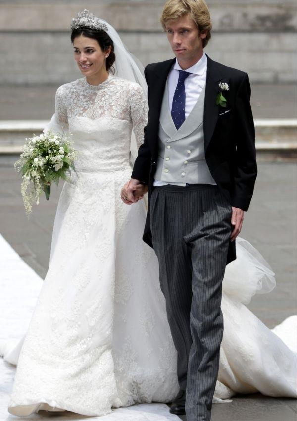 **Alessandra De Osma**  <br><br> Alessandra wore a conservative take on Grace's original dress for her wedding to Prince Christian of Hanover.