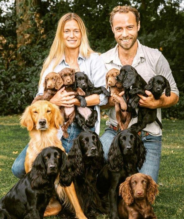 """James and Alizee welcomed a litter of pups together in 2020, which looks like it would have been chaos, but of course, the youngest Middleton took to Instagram to reflect on their time with the fur babies before they had to leave.  <br><br> """"I am sad to see you go, and yes I might cry but it will be with happiness as each of your new homes are bursting with love,"""" wrote James."""