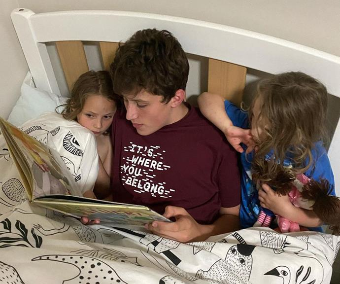 Cornelius, 14, is every inch the doting big brother to his three younger siblings Emily, six, Jemima, four and baby Charles.