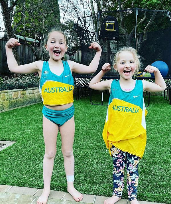 Following in their mum's footsteps! Jemima, four, and six-year-old Emily were both conceived through the same anonymous sperm donor.
