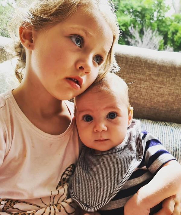 """Jana said her youngest daughter Jemima has already formed an inseparable bond with little Charles. <br><br> """"Everyone with kids knows some days are just tough days to remain good at mummying. A lot of deep breaths required... but then you capture a moment like this and know it's all worth it!"""" Jana posted."""