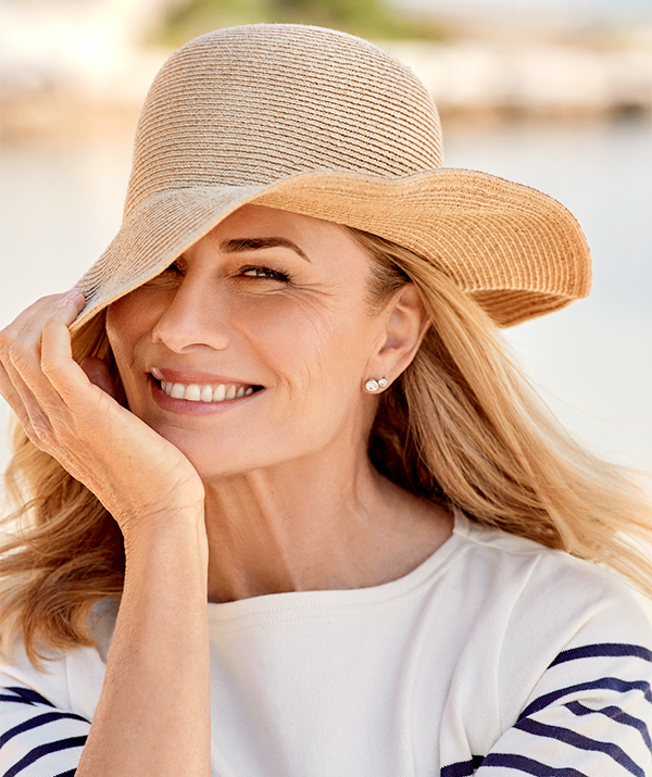 Deborah Hutton has opened up about her own journey with sun safety and skin cancer.