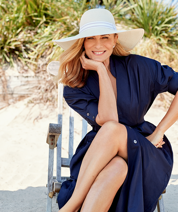 Deborah designed the Canopy Bay hats with every demographic in mind. This hat, the Carla, was inspired by the last Carla Zampatti.