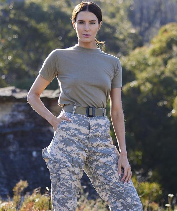 """Former Miss World Australia Erin Holland was the second celebrity to voluntarily withdraw during a torturous combat drill. <br><br> After the cricket presenter was caught by DS Ant Middleton not correctly completing a section  of the drill, she was forced to carry actor Dan Ewing on her back as punishment. <br><br> But Erin struggled to lift the Home and Away star and carry him through the course, prompting Ant to discipline the other recruits by extending the exercise until the model finished. <br><br> Overcome by guilt and physical exhaustion, Erin made the tough decision to quit the show. <br><br> """"I can't do it to them,"""" she told Ant while ripping off her arm band number and effectively voluntarily withdrawing. <br><br> Erin said she often beats herself up if she doesn't """"perform well"""" in her everyday life. """"Getting past feeling like a failure is going to be really big for me,"""" she said. <br><br> """"This selection course to me is going to teach me how to fail and somehow find a way forward."""""""