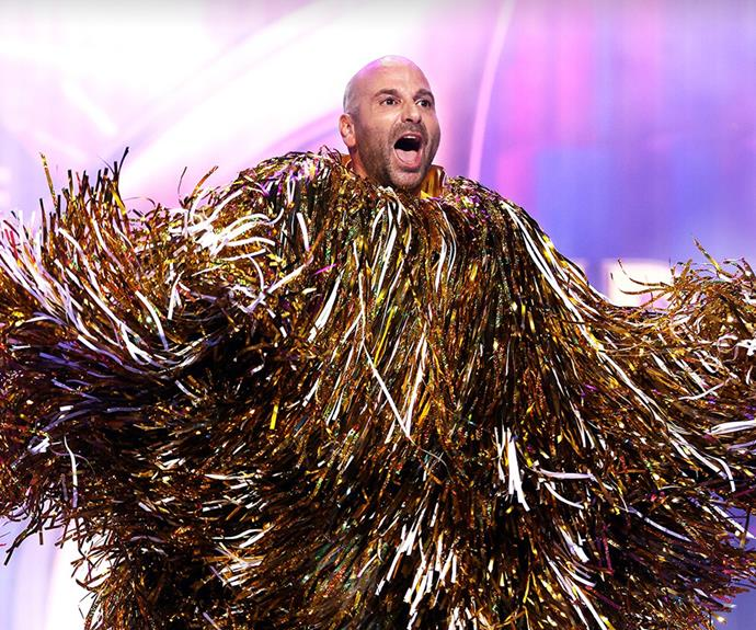 George Calombaris was unmasked on episode two of *The Masked SInger Australia.*