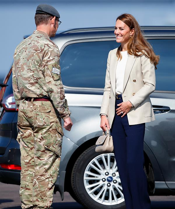 The Duchess of Cambridge visited an airbase to meet members of the RAF.