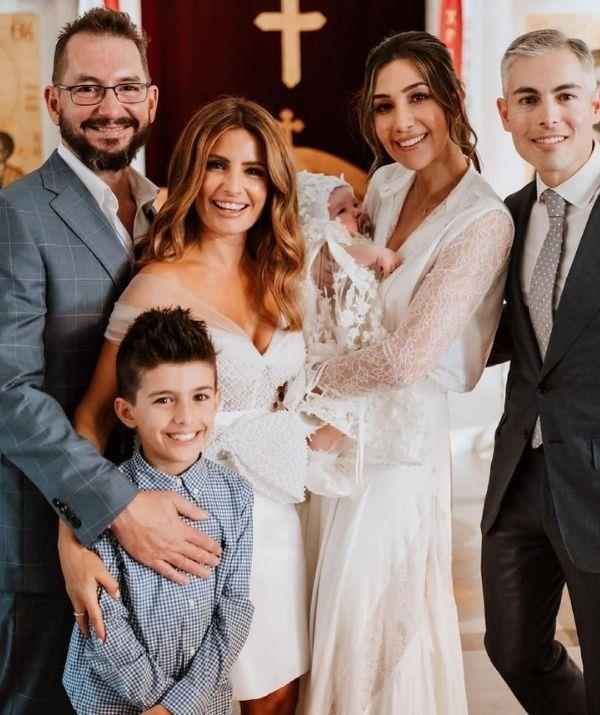 In early 2021 the family christened Costa and Elena's daughter Sofia. Ada was the woman of the hour as she was bestowed the honour of becoming her niece's godmother.