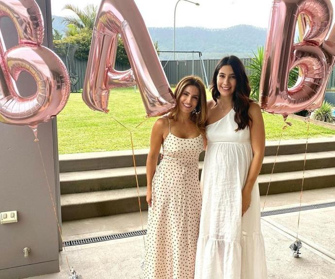 Ada shared this picture from Elena's baby shower, and both women look radiant.