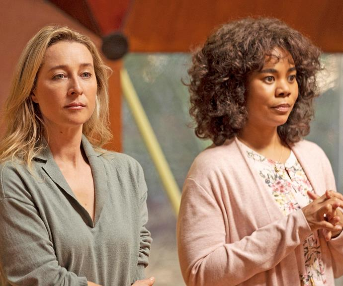 On *Nine Perfect Strangers,* Asher plays Heather, a mum trying to hold her family together after a tragedy that could easily tear them apart.