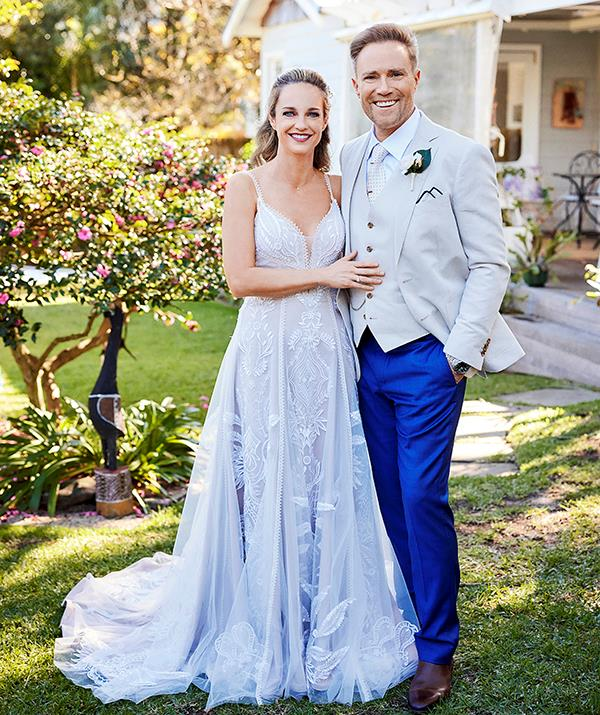 Favourites Tori and Christian this week tie the knot in a beautiful backyard wedding in front of their loved ones.