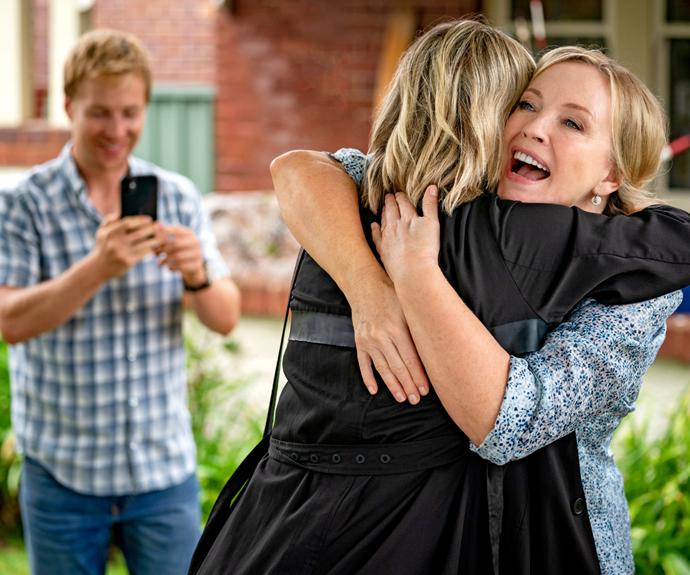 Rachel returns home to Sydney in the *Rafters* reboot.