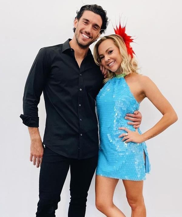"""**Angie Kent** <br><br> Former *Bachelorette* and *Gogglebox* star Angie Kent will be hitting the dance floor once more, after she first appeared on season 17 of *Dancing With The Stars* in 2020. <br><br> """"If we can dance as well as how awkward I am and how much smack we talk…then we are in for a solid shot!"""" she said on Instagram."""