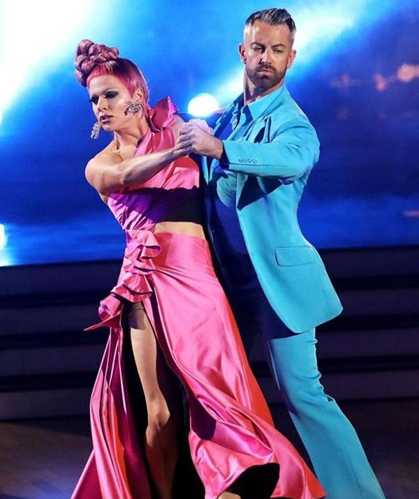 """**Courtney Act** <br><br> Also looking to claim victory is entertainer Courtney Act, who first appeared on season 16 in 2019. <br><br> """"I'm doing All Stars… *Dancing With The Stars All Stars* that is! @joshuakeefedancer and I are rip-roaring and ready to take to the d-floor!"""" she said on Instagram."""