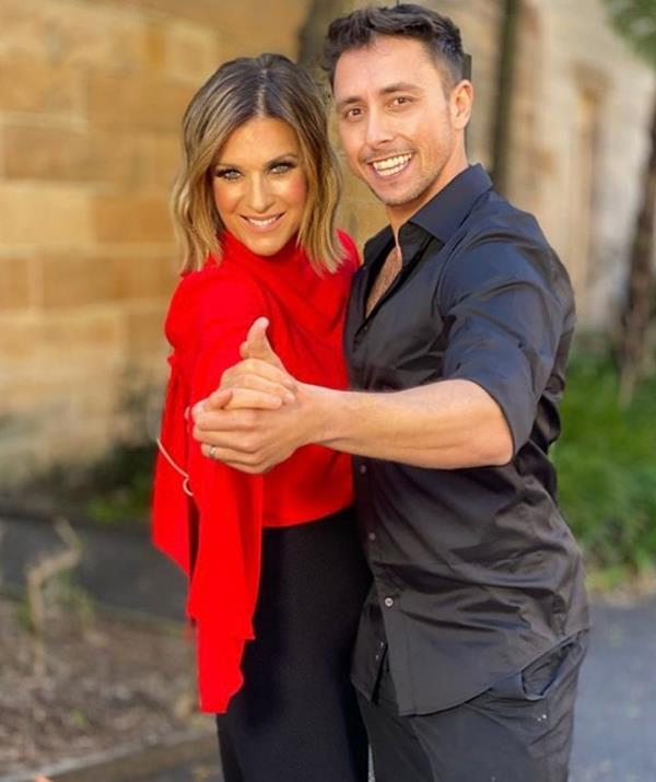 """**Kylie Gillies** <br><br> *The Morning Show* presenter Kylie Gillies, who placed third on the 2009 series, said it's """"so exciting"""" to be back on the dancefloor. <br><br> """"They didn't have to ask twice, I was just so excited to do it again,"""" she said. <br><br> """"My heart wants to do it, I just hope my body can keep up. That's my big worry."""""""