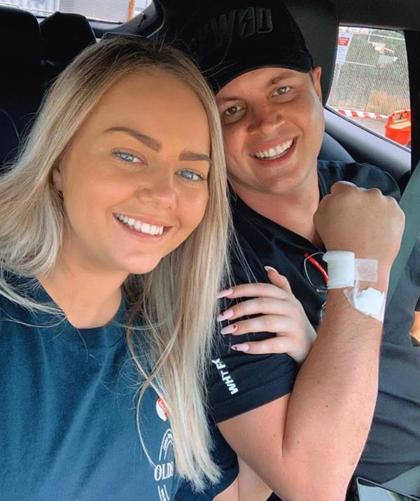 Throughout his cancer journey, Johnny's girlfriend Tahnee has been by his side for it all.