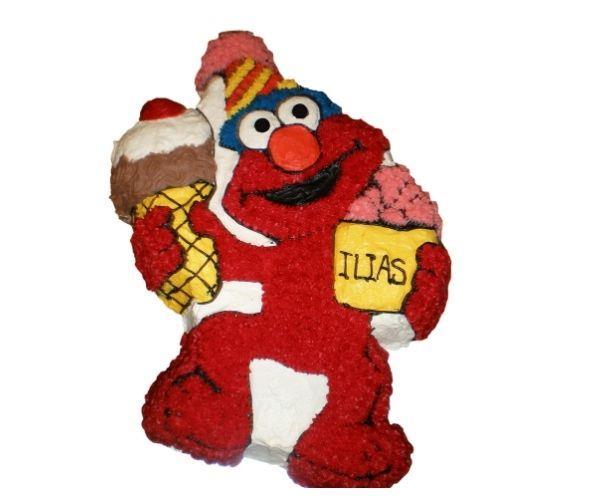 The Elmo cake made for Ilias.