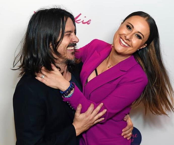 Jackie and her Silverchair star husband Ben Gillies are expecting twins due in November.